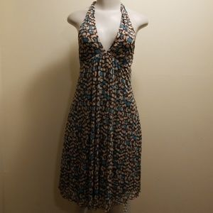 Diane von Furstenberg brown/tan/turq sundress